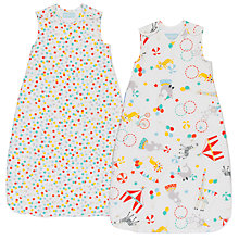 Buy Grobag Roll Up Wash and Wear Sleep Bag, 2.5 Togs, Pack of 2, White Online at johnlewis.com