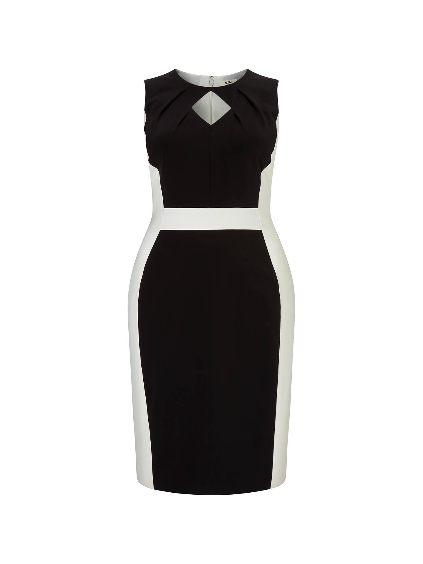 BuyStudio 8 Alberta Dress, Black/Ivory, 24 Online at johnlewis.com