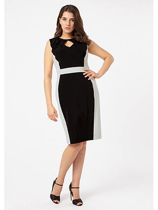 Buy Studio 8 Alberta Dress, Black/Ivory, 24 Online at johnlewis.com