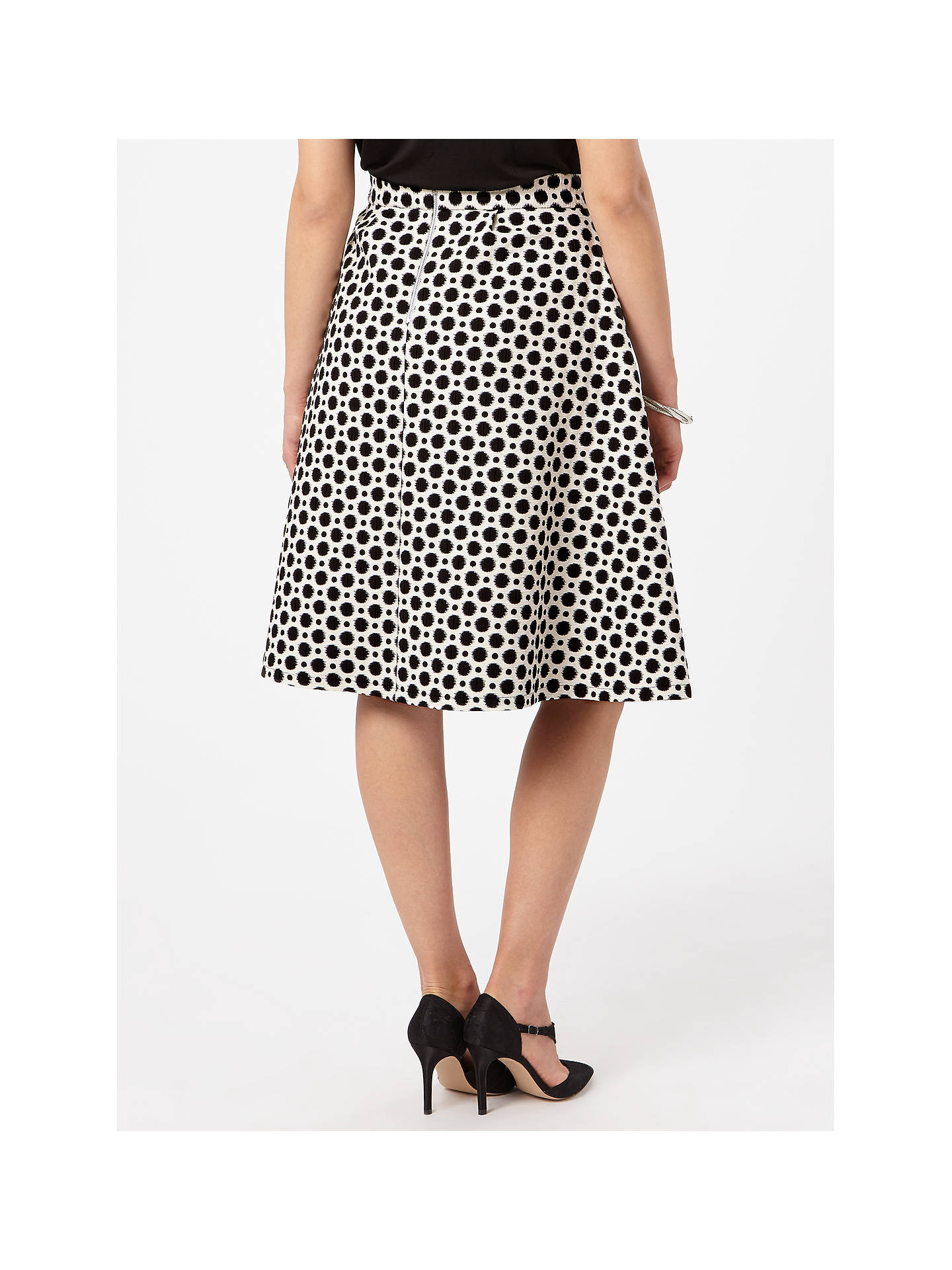BuyStudio 8 Persia Skirt, Black/White, 14 Online at johnlewis.com