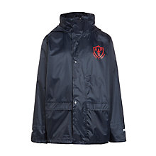 Buy Alpha Prep School Waterproof Raincoat, Navy Online at johnlewis.com
