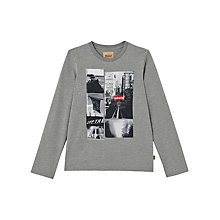 Buy Levis Boys' Long Sleeve Noel T-Shirt, Grey Online at johnlewis.com