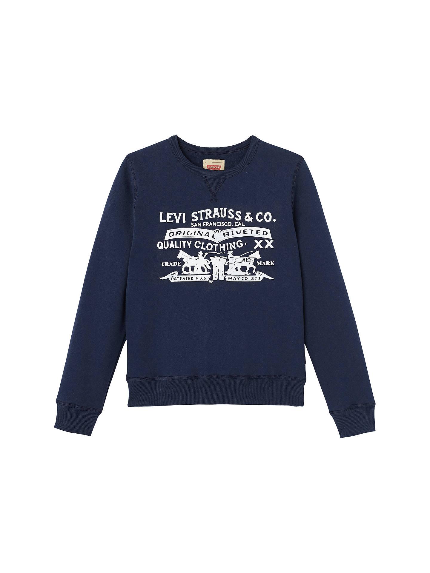 eb0d3c152 Levi s Boys  Two Horse Graphic Crew Neck Sweatshirt