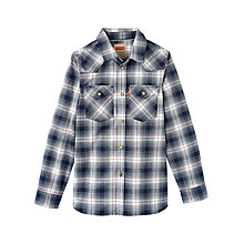 Buy Levi's Boys' Bouly Check Shirt, Blue Online at johnlewis.com