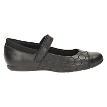 Buy Clarks Children's Dance Buzz Leather Shoes, Black Leather Online at johnlewis.com