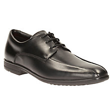 Buy Clarks Children's Willis Lad Lace-Up Leather School Shoes, Black Online at johnlewis.com