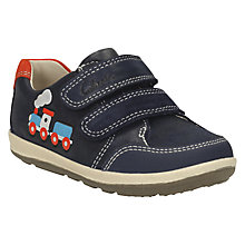 Buy Clarks Children's Softly Tom Leather Shoes, Navy Online at johnlewis.com