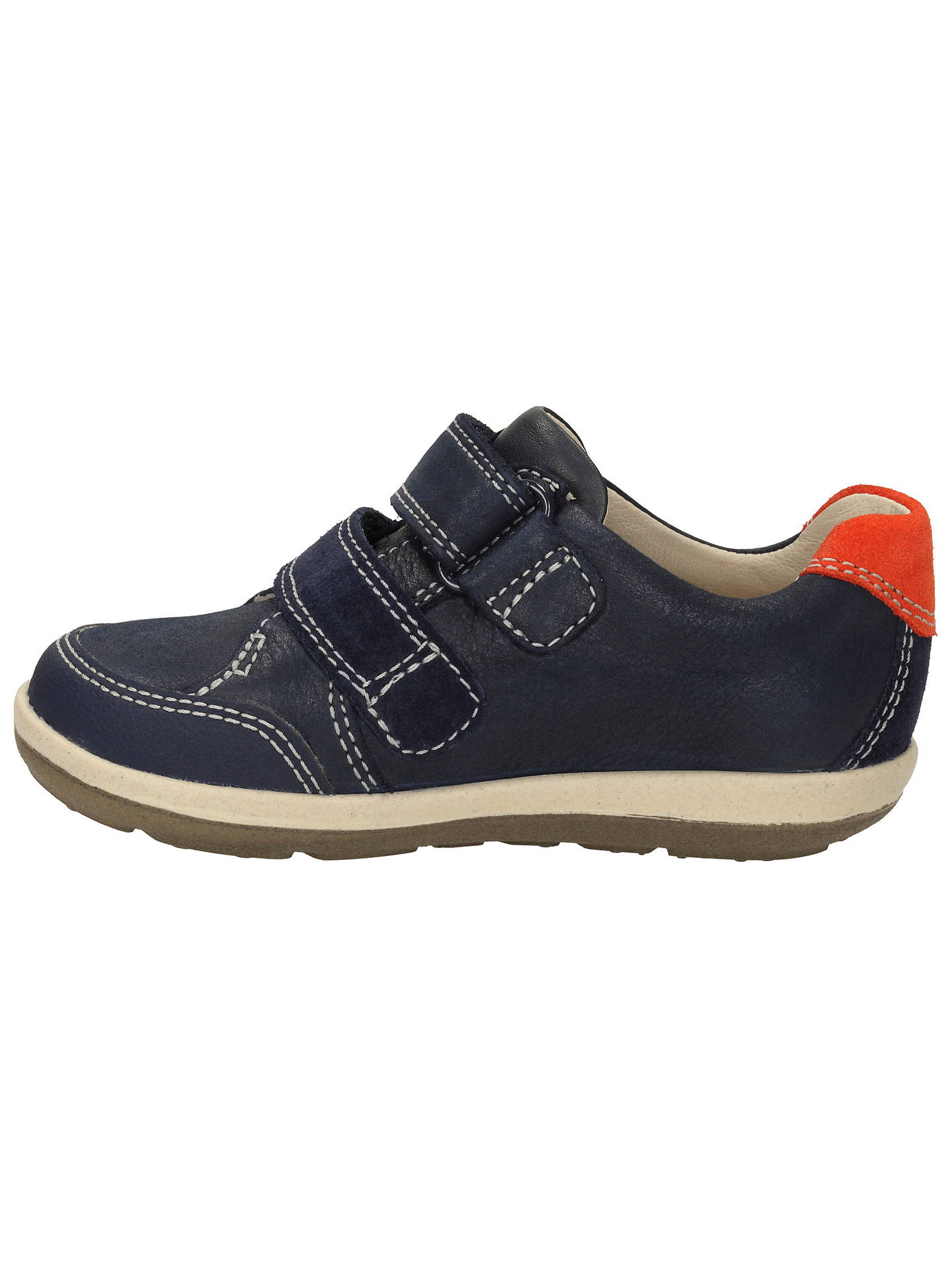 bbc053b8907 Buy Clarks Children's Softly Tom Leather Shoes, Navy, 4F Jnr Online at  johnlewis.