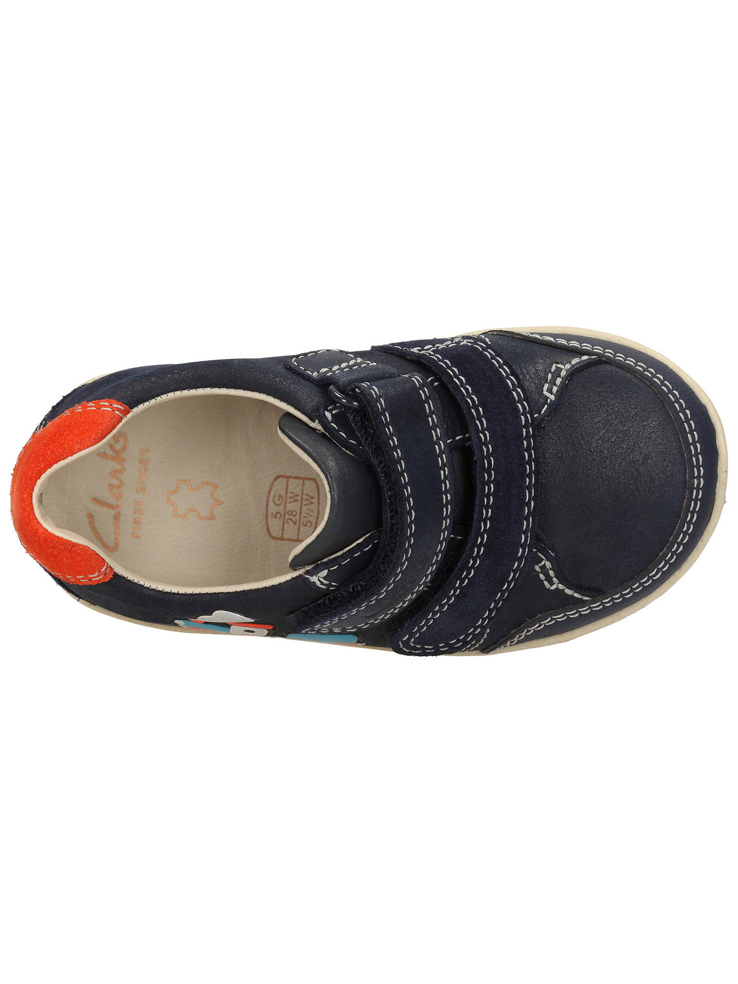 90a470b4334c Buy Clarks Children's Softly Tom Leather Shoes, Navy, 4F Jnr Online at  johnlewis.