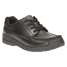 Buy Clarks Children's Loris Step Leather Lace-Up School Shoes, Black Online at johnlewis.com