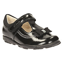 Buy Clarks Children's Ella Ruby School Shoes, Black Patent Online at johnlewis.com