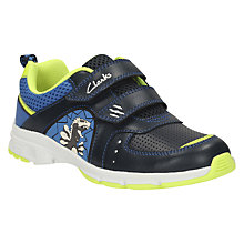 Buy Clarks Children's Pass Roar Sports Shoes, Navy Online at johnlewis.com