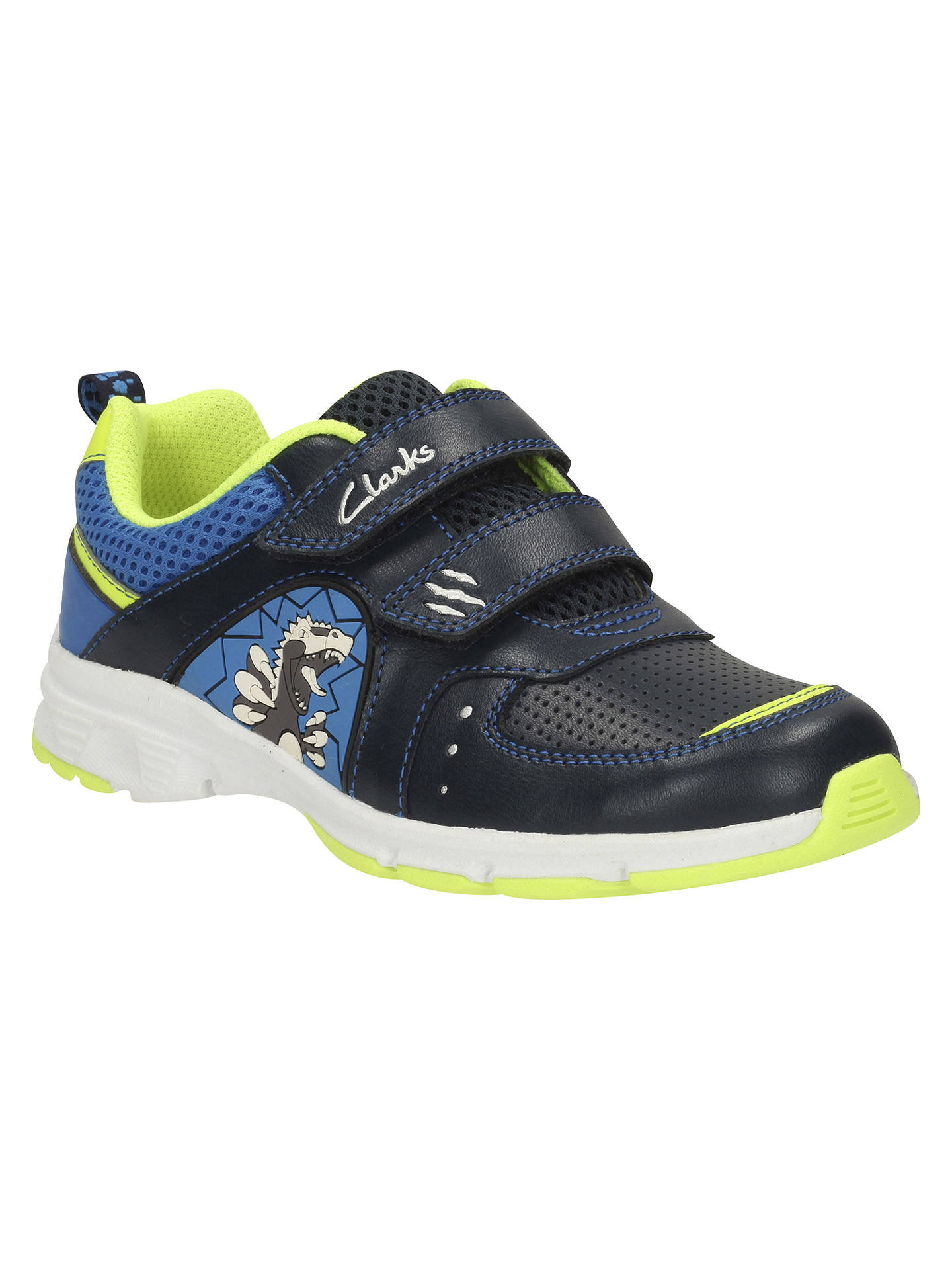 puente monitor Pickering  Clarks Children's Pass Roar Sports Shoes, Navy at John Lewis & Partners