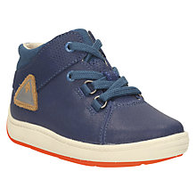 Buy Clarks Children's Leather Maxi Shoes, Blue Online at johnlewis.com