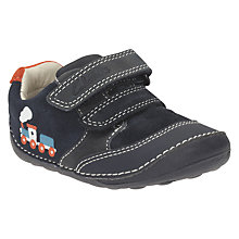 Buy Clarks Tiny Tom Leather Shoes, Navy Online at johnlewis.com