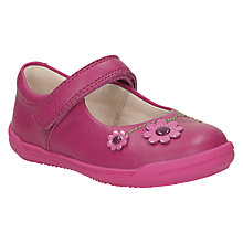 Buy Clarks Children's Softly Jam Mary Jane Shoes, Hot Pink Online at johnlewis.com