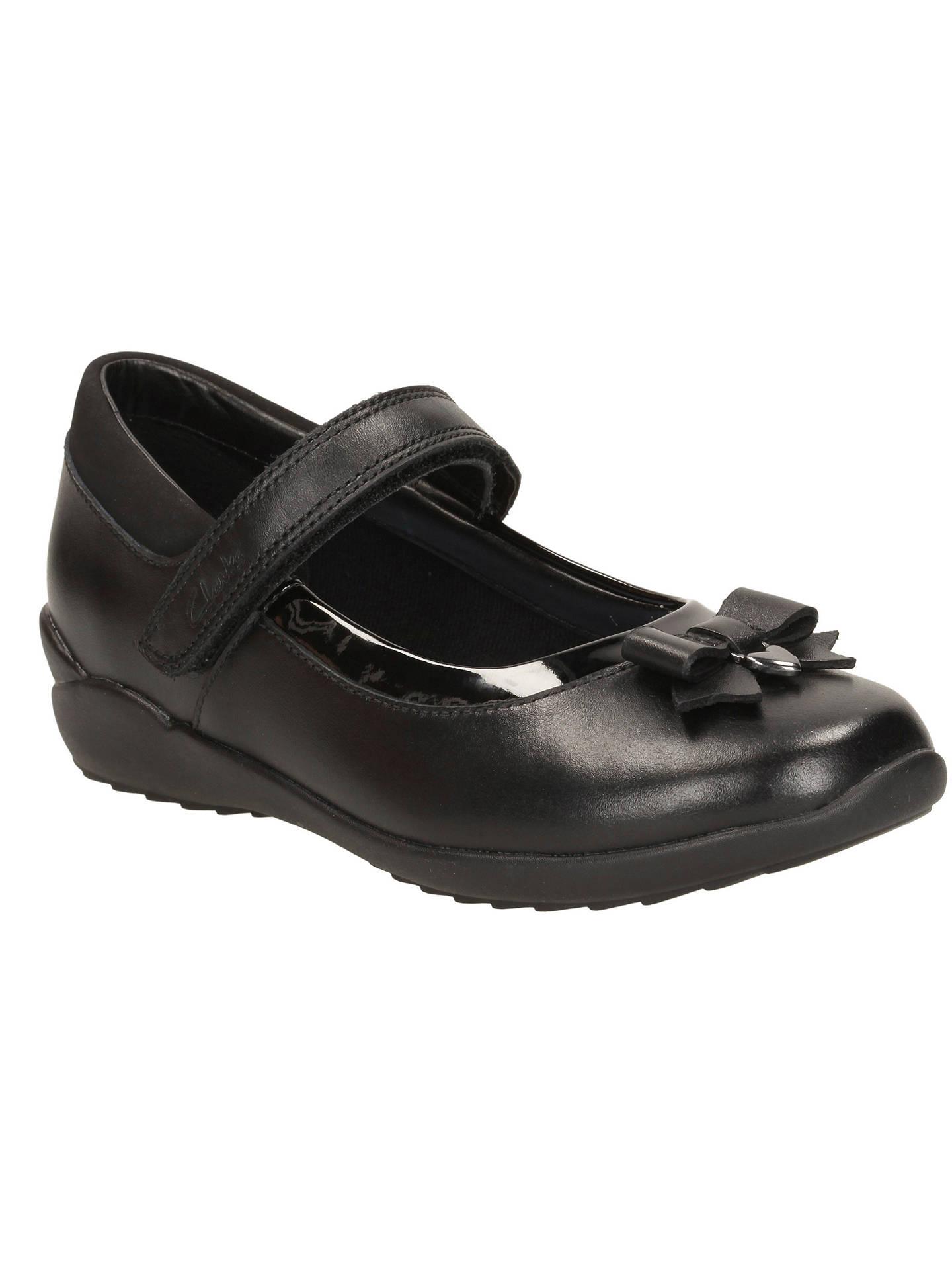 5c4532294ac Buy Clarks Children's Gloform Ting Fever School Shoes, Black, 10E Jnr  Online at johnlewis ...