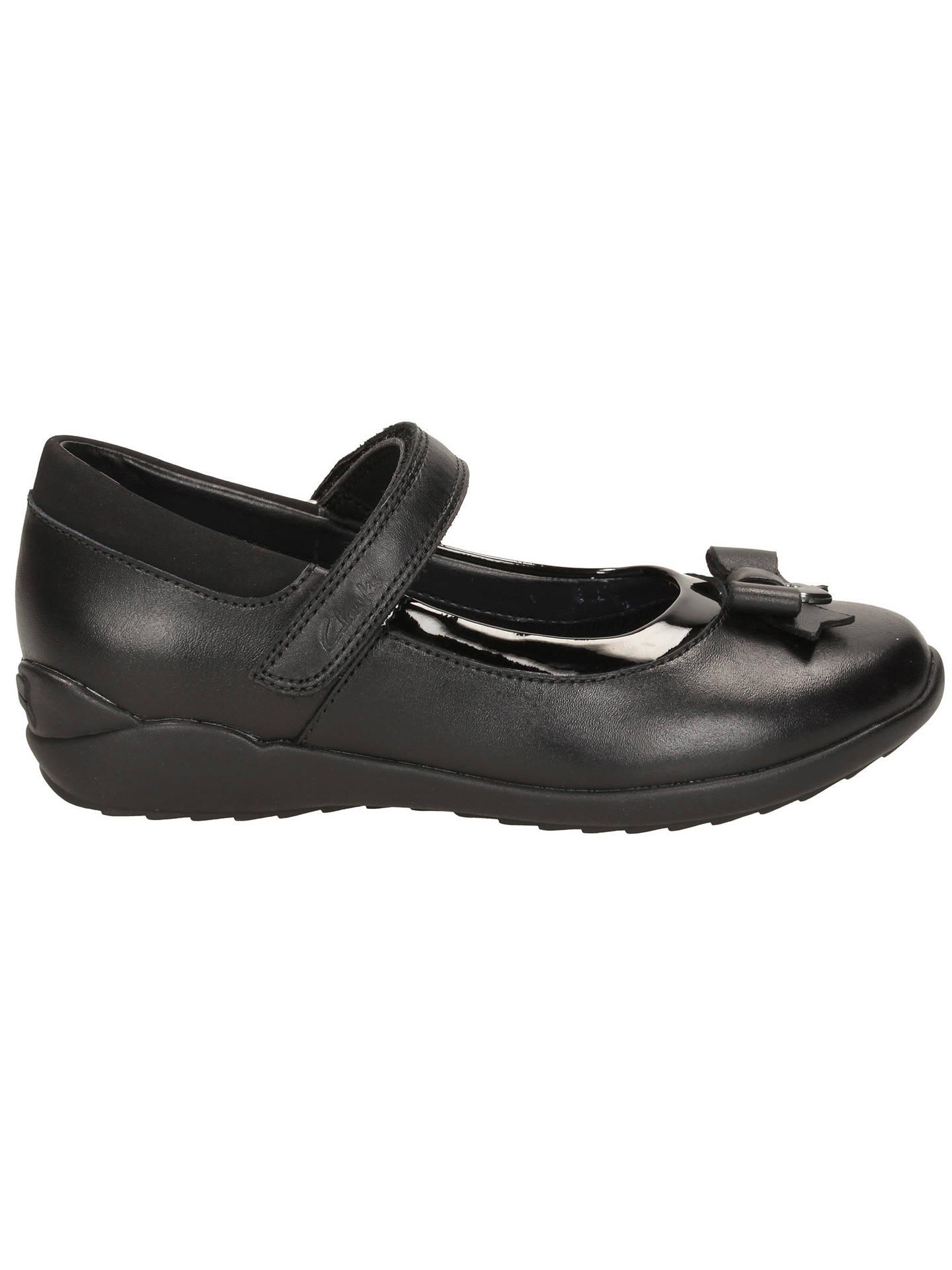 550adf565 ... Buy Clarks Children's Gloform Ting Fever School Shoes, Black, 10E Jnr  Online at johnlewis ...