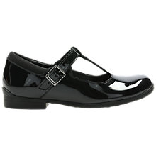 Buy Clarks Children's Mary Jane Leather School Shoes, Black Online at johnlewis.com
