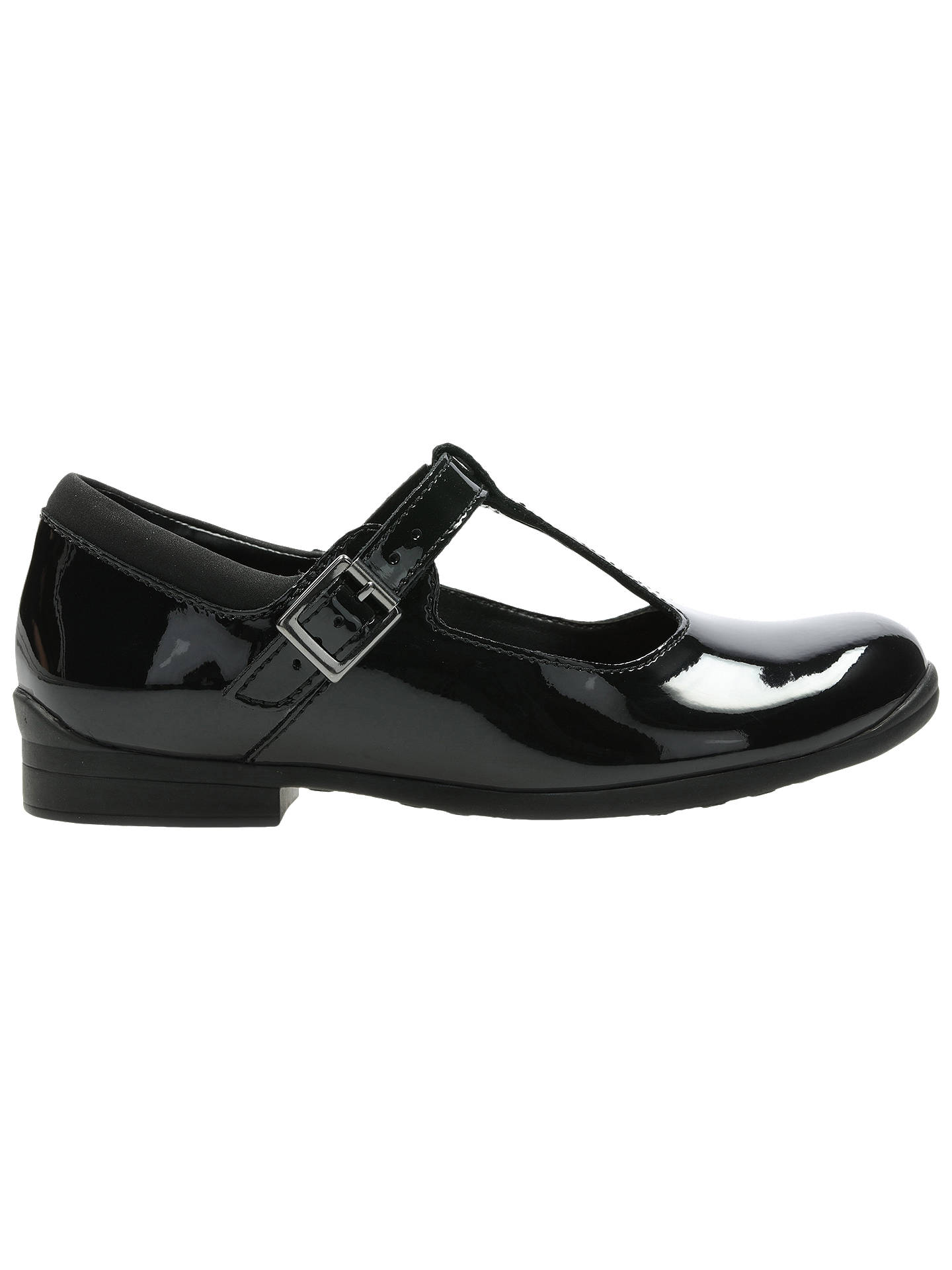 Buy Clarks Children's Mary Jane Leather School Shoes, Black, 13F Jnr Online at johnlewis.com