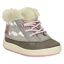 Buy Clarks Children's Maxi Fun Lace-Up Leather Boots, Grey Online at johnlewis.com