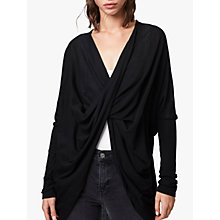 Buy AllSaints Itat Shrug, Black Online at johnlewis.com