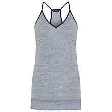 Buy Miss Selfridge New Cut And Sew Cami, Grey Online at johnlewis.com