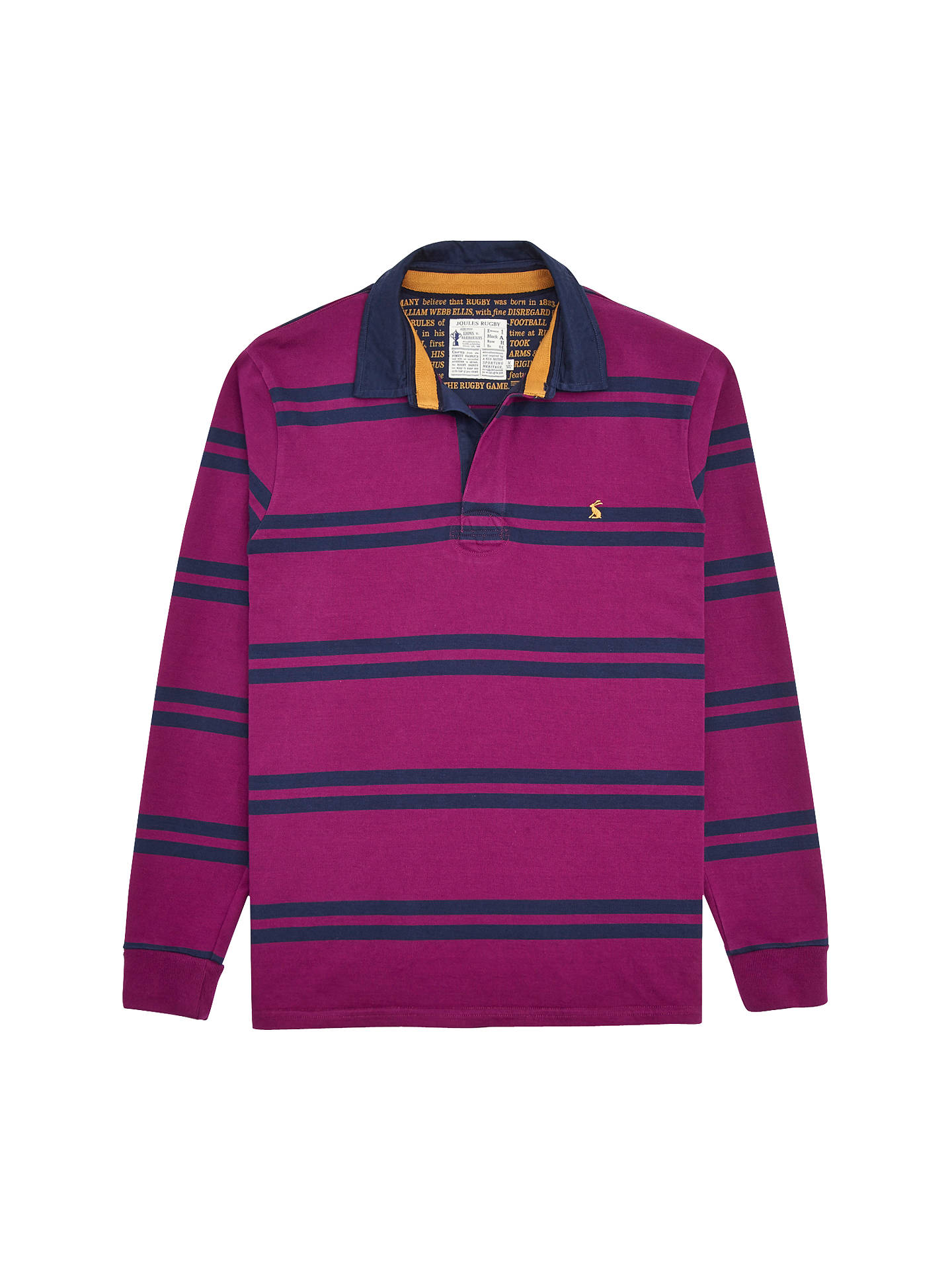 Joules Woodall Stripe Rugby Shirt Dark Purple At