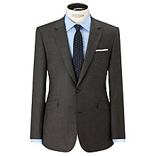 Buy John Lewis Super 100s Wool Milled Textured Weave Tailored Suit Jacket, Grey Online at johnlewis.com