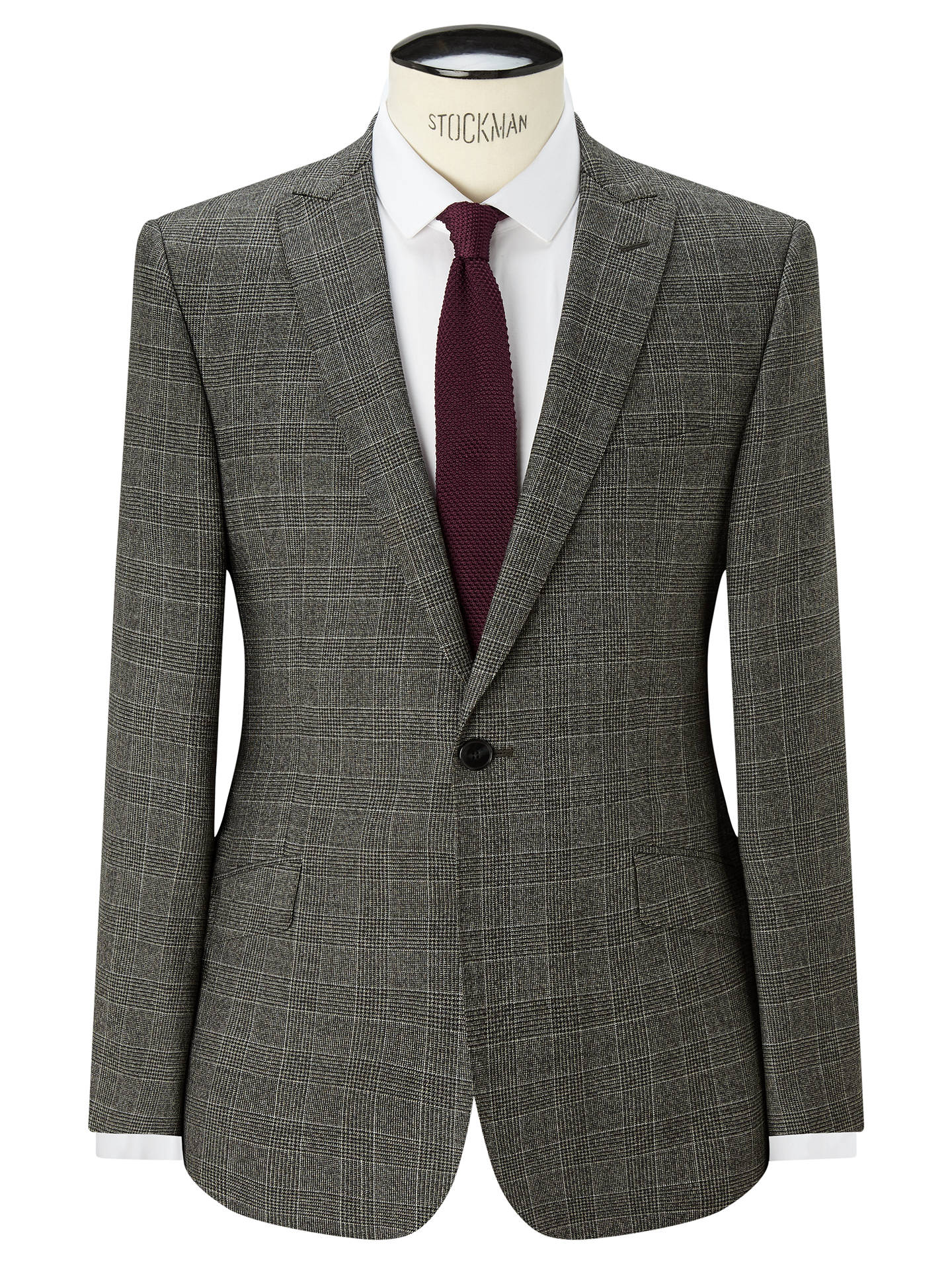 2c5993dd6891 Buy Kin Carter Check Slim Suit Jacket, Black/White, 38R Online at johnlewis  ...
