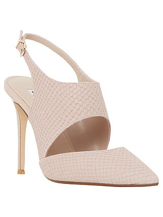 Buy Dune Caprice Cut Out Sling Back Court Shoes, Blush Reptile, 3 Online at johnlewis.com
