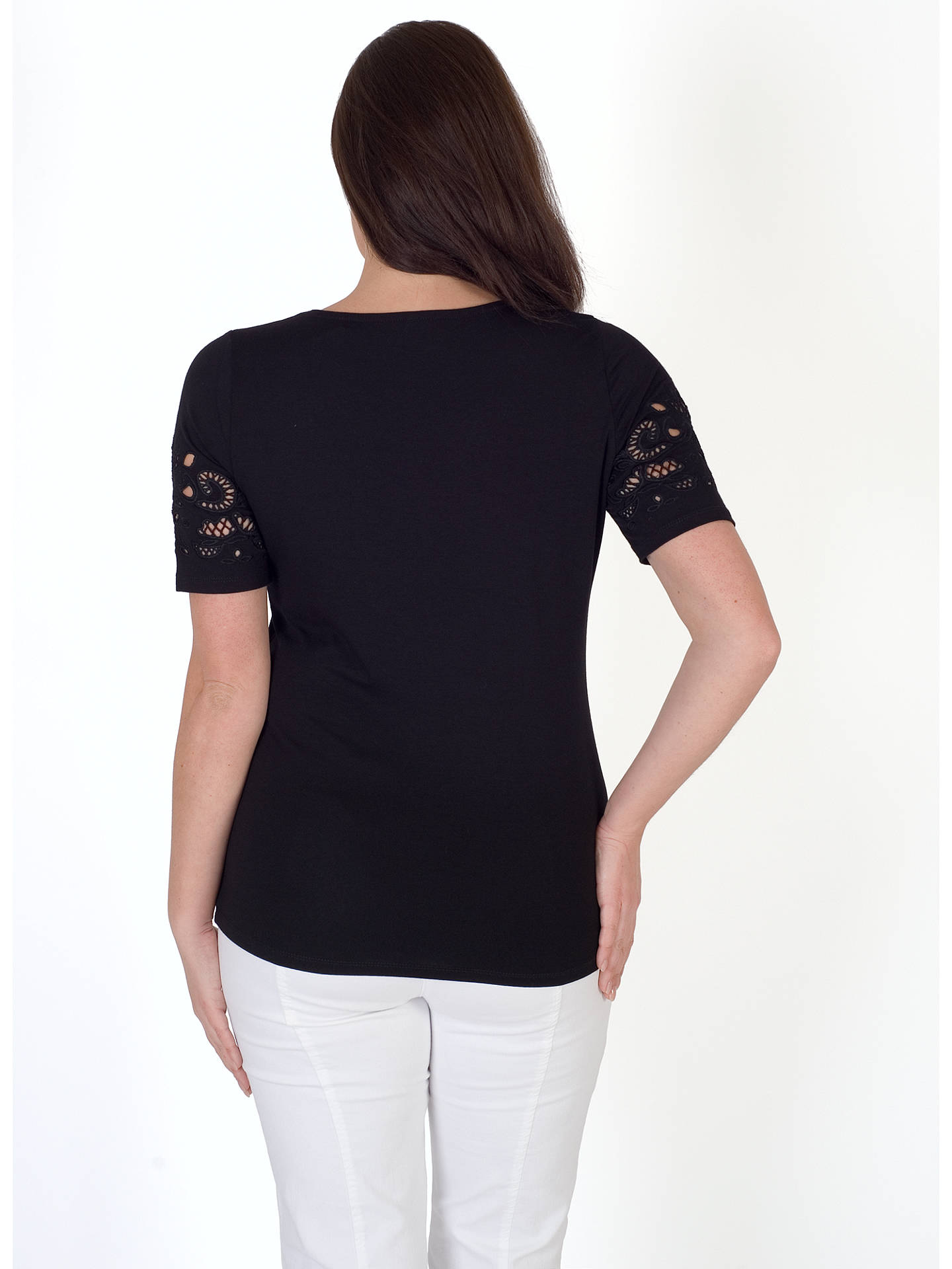 BuyChesca Cut-Out V-Neck T-Shirt, Black, 12-14 Online at johnlewis.com