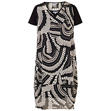Buy Chesca Printed Cocoon Dress, Black/White Online at johnlewis.com