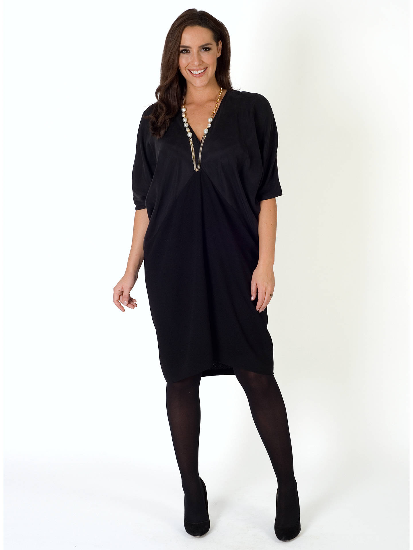 Buy Chesca Jersey Dress, Black, 12-14 Online at johnlewis.com