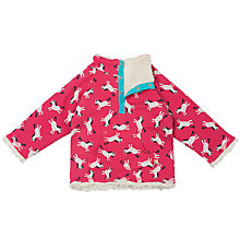 Buy Frugi Organic Reverse Horse Snuggle Fleece, Pink Online at johnlewis.com