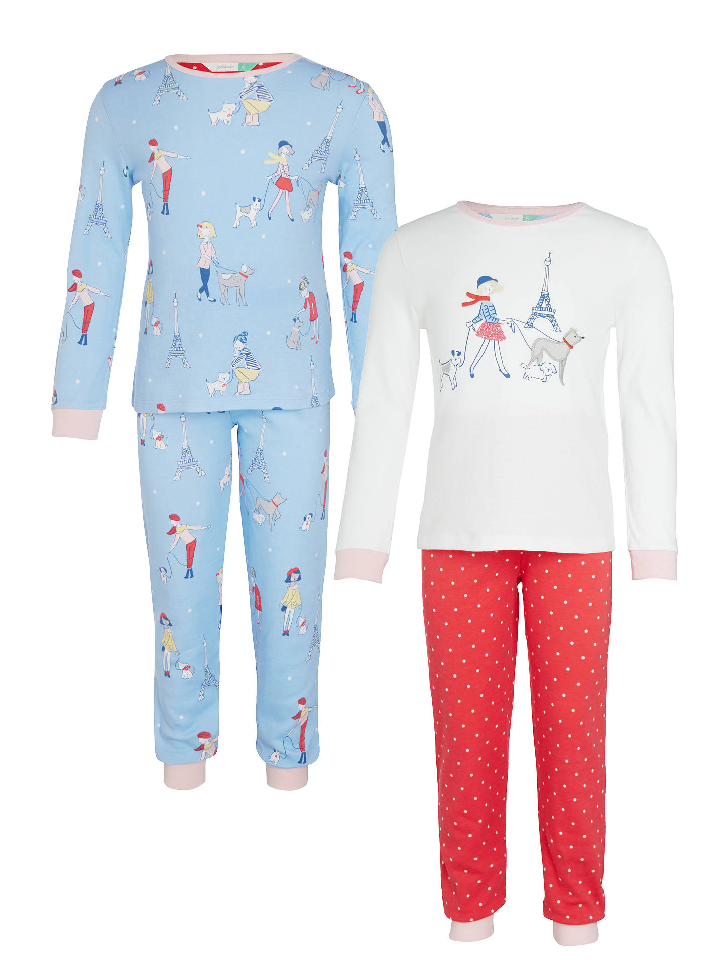 e6de238104 BuyJohn Lewis Children s Paris Dog Print Pyjamas