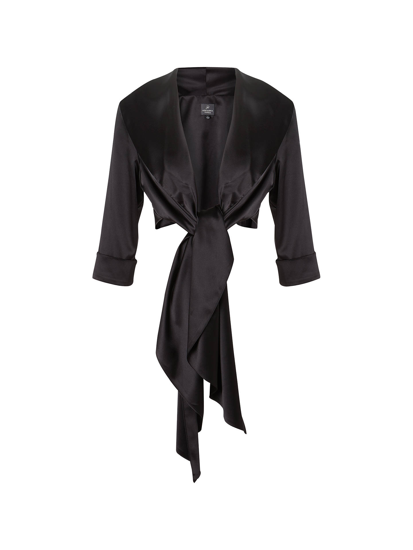 BuyAdrianna Papell Stretch Charm Wrap Shawl, Black, XS Online at johnlewis.com