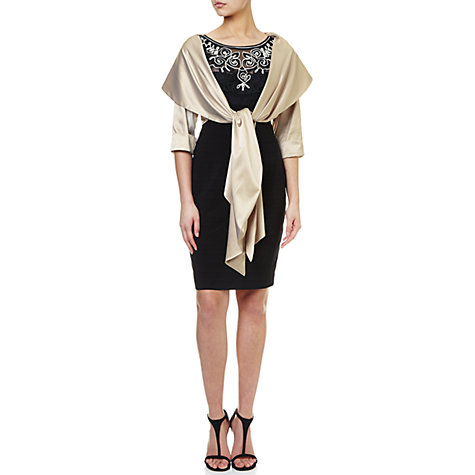 Buy Adrianna Papell Stretch Charm Wrap Shawl, Champagne Online at johnlewis.com