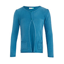 Buy John Lewis Girls' Lead In Cardigan, Turquoise Online at johnlewis.com