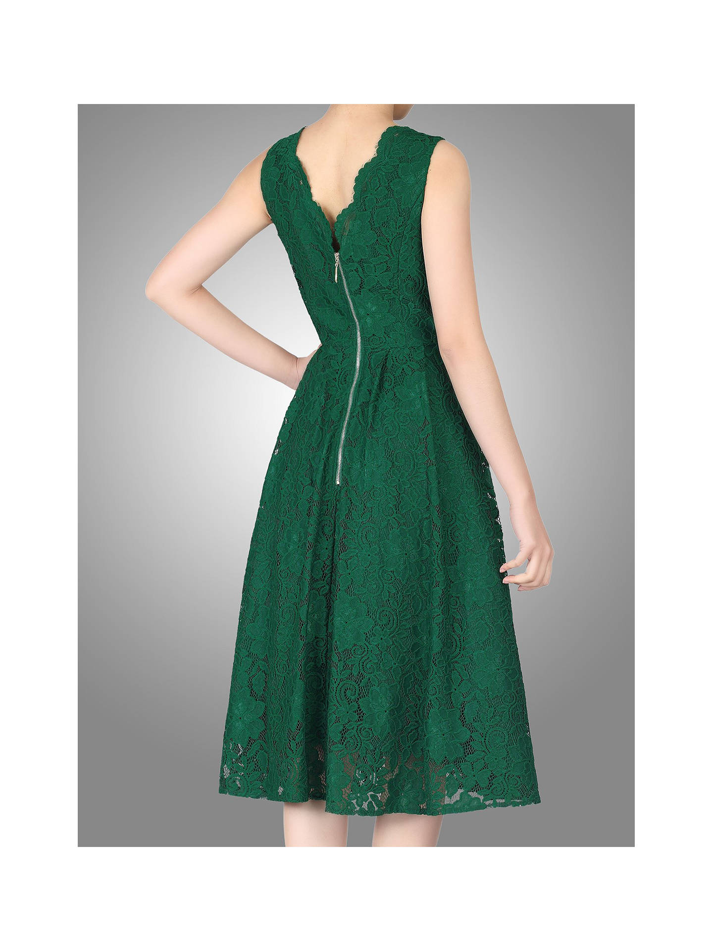 BuyJolie Moi Scalloped Lace Prom Dress, Green, 8 Online at johnlewis.com