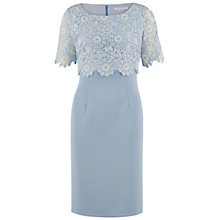 Buy Gina Bacconi Crepe Dress And Attached Organza Overtop, Blue Online at johnlewis.com