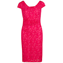 Buy Gina Bacconi Stretch Lace Dress, Bright Pink Online at johnlewis.com