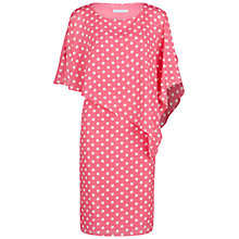 Buy Gina Bacconi Spot Chiffon Dress With Cape, Pretty Pink Online at johnlewis.com