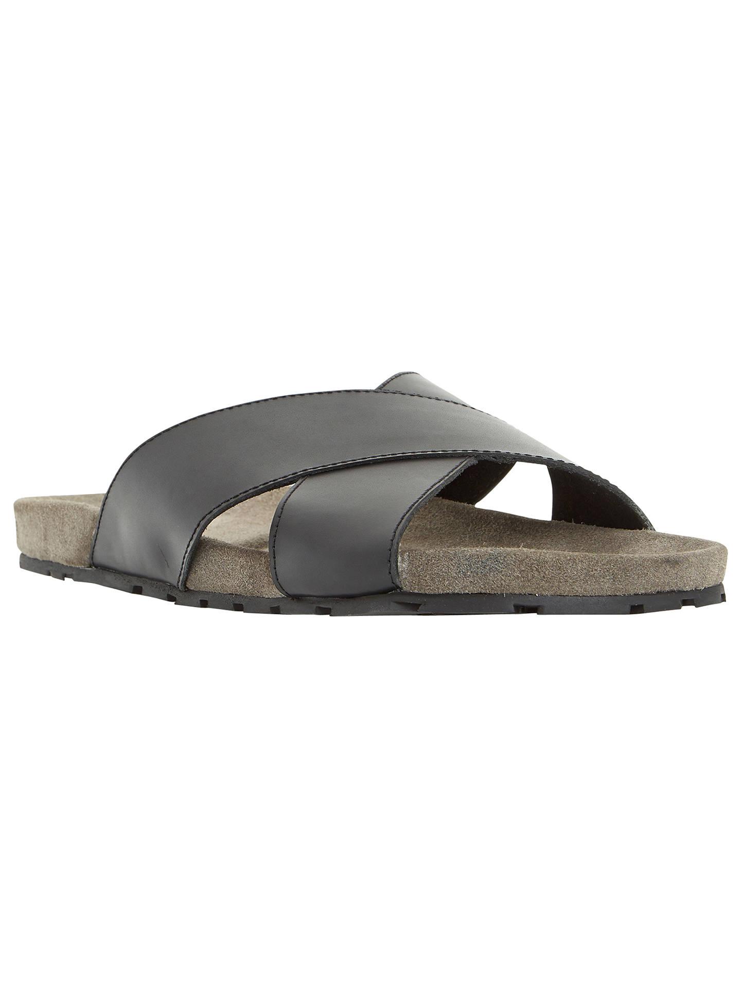 6d3975779396d Buy Dune Idris Leather Crossover Strap Sandals, Black, 40 Online at  johnlewis.com ...
