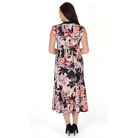 Buy Chesca Rose Print Jersey Dress Apricot John Lewis