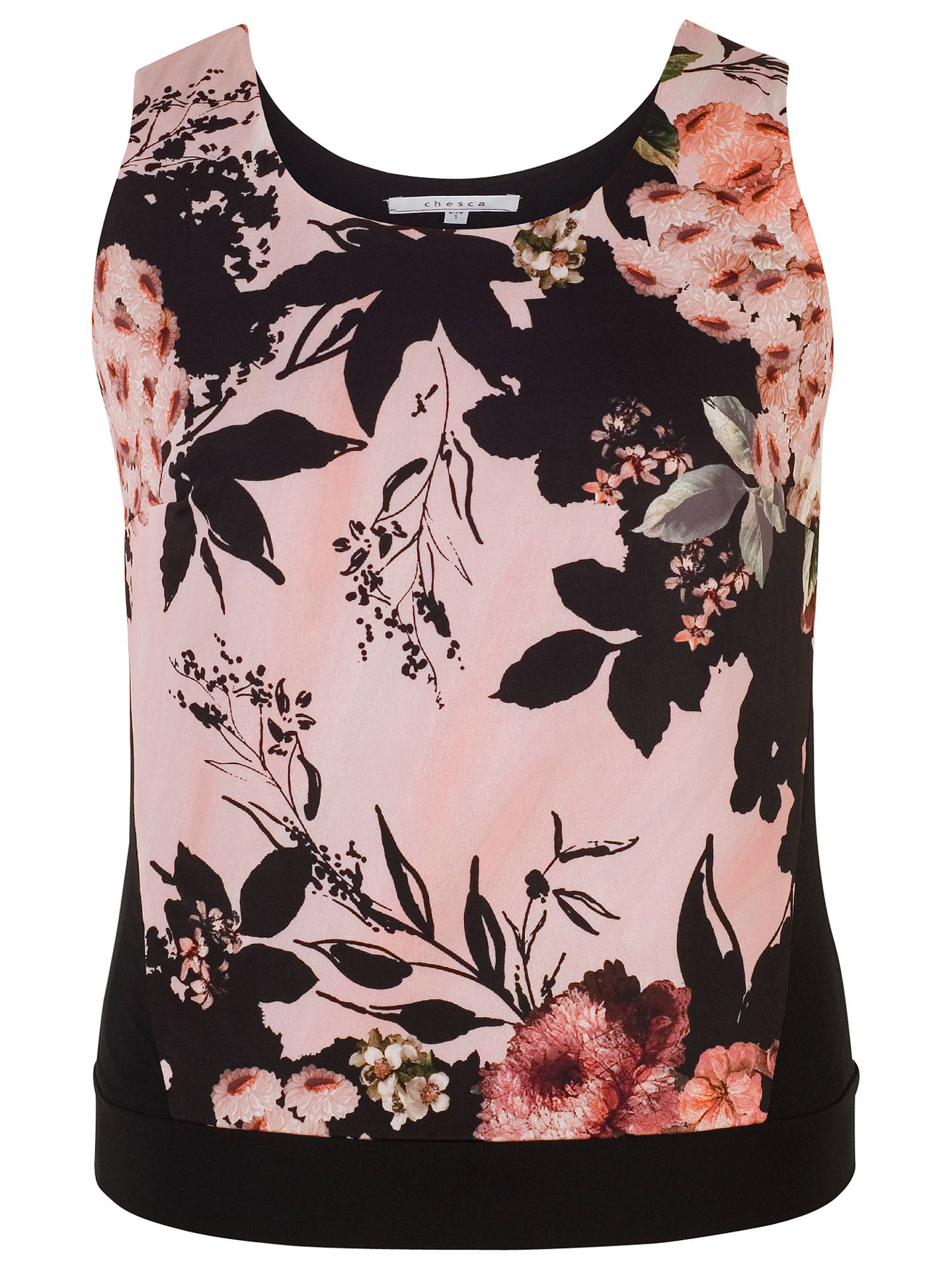 BuyChesca Rose Print Jersey Cami Top, Apricot, 20-22 Online at johnlewis.com
