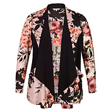 Buy Chesca Rose Jersey Shrug, Apricot/Multi Online at johnlewis.com