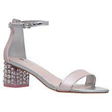 Buy Carvela Groove Perspex Crystal Detail Mid Block Heel Sandals Online at johnlewis.com