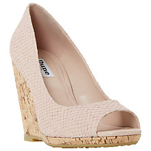 Buy Dune Charlotte Cork Effect Wedge Sandals Online at johnlewis.com
