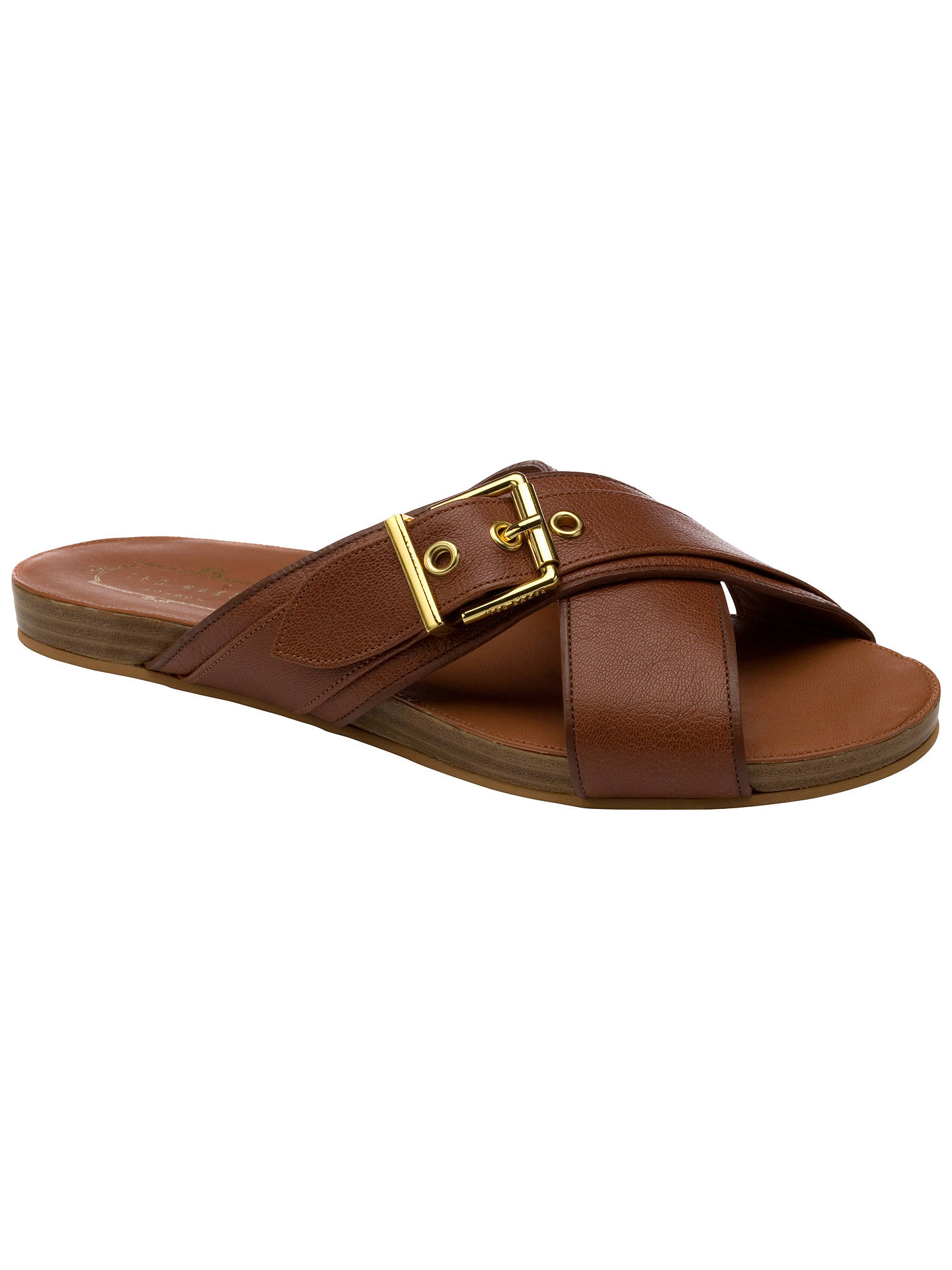 448758bef93879 Ted Baker Lapham Flat Slip On Sandals at John Lewis   Partners